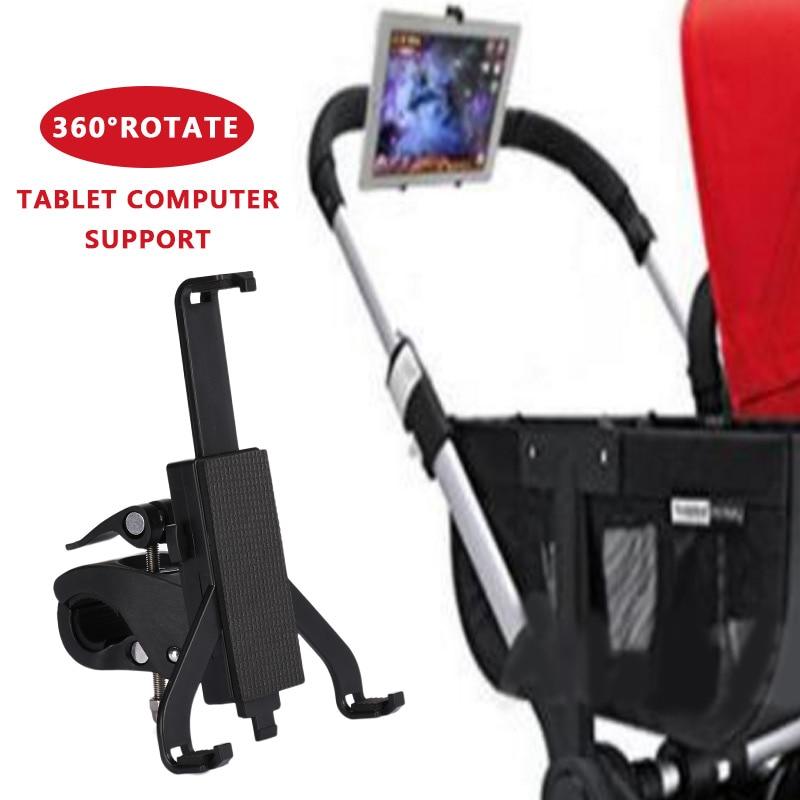 Black Mobile Phone Holder Tablet Stand Stroller Movie Creative Children Support Pram Useful Tablet Holder Rotatable Smartphone