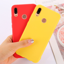 Funda de teléfono para Huawei P30 Pro P20 Lite P10 P9 Plus P Smart 2019 Z Simple TPU suave y ultradelgado fundas colores dulces contraportada