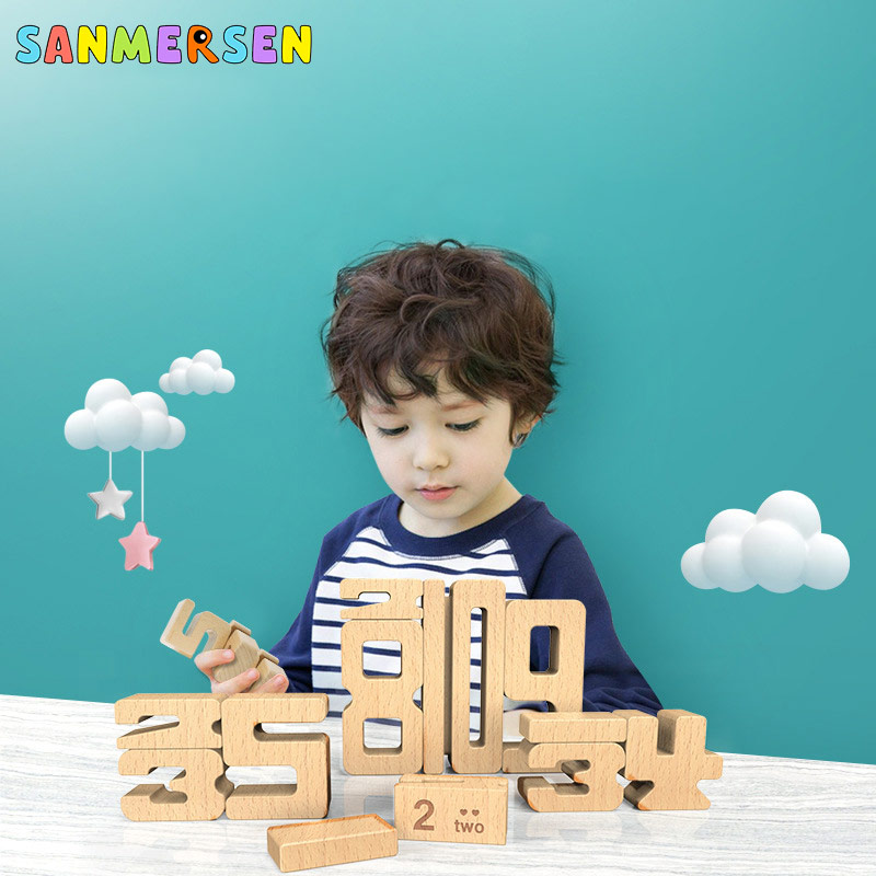 New Wooden Children Digital Building Blocks Toys Early Education Toy Enlightenment Montessori Teaching Toy Baby Games