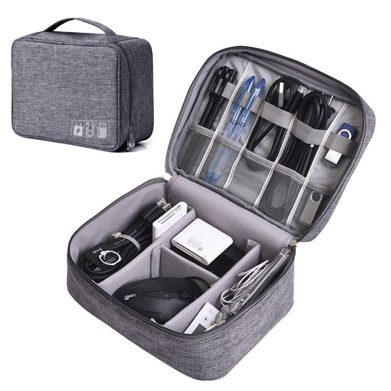 Portable Multifunctional Travel Accessories Kit Organizer Bag For Digital USB Cable Data Charger Wires Gadget Storage Case 654