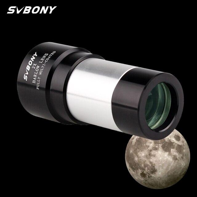 "SVBONY 1.25"" 2X Barlow Lens for Astronomy Telescope Monocular Eyepiece 31.7mm Achromatic Metal  F9146A"