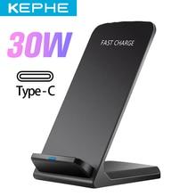 30W QI Drahtlose Ladegerät Schnell Ladung 2,0 Schnelle Lade für iPhone 8 10 X XR Samsung S10 S7 S8 s9 2-Spulen Stehen 5V/2A & 9V/1,67 A