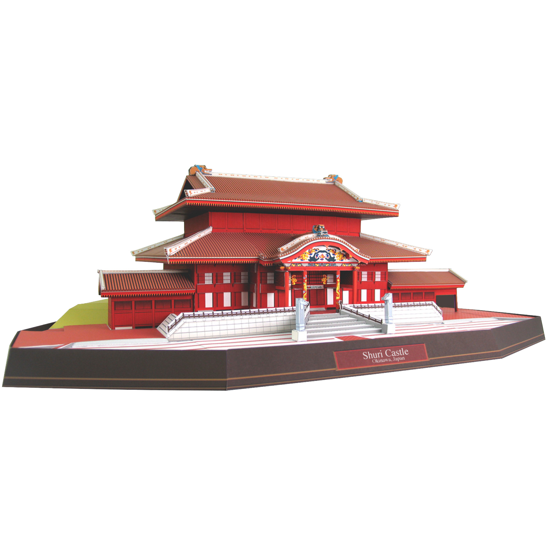 54x30x22cm Japan Shuri Castle 3D Paper Model World Famous Architectural Model Paper Crafts Manual DIY Manual Work Building Model