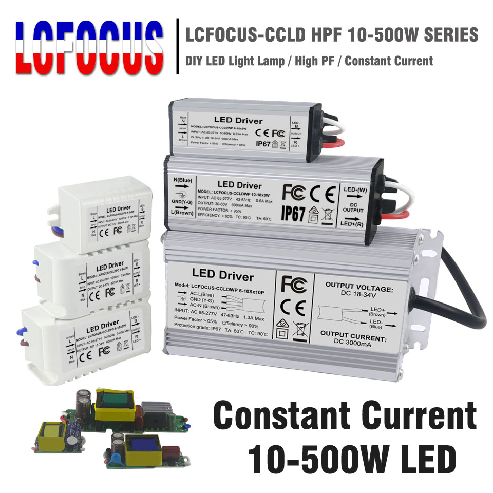 LED Driver 10W 20W 30W 40W 50W 80W 100W 200W 300W Lighting Transformers Power Supply For DIY 10 20 30 50 100 200 300 W Watt Lamp