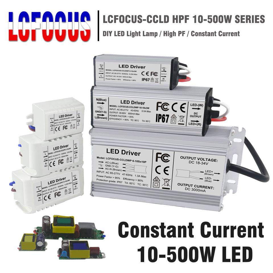 LED Driver 10W 20W 30W 40W 50W 80W 100W 200W 300W Lighting Transformers Power Supply For DIY 10 20 30 50 100 200 300 W Watt Lamp