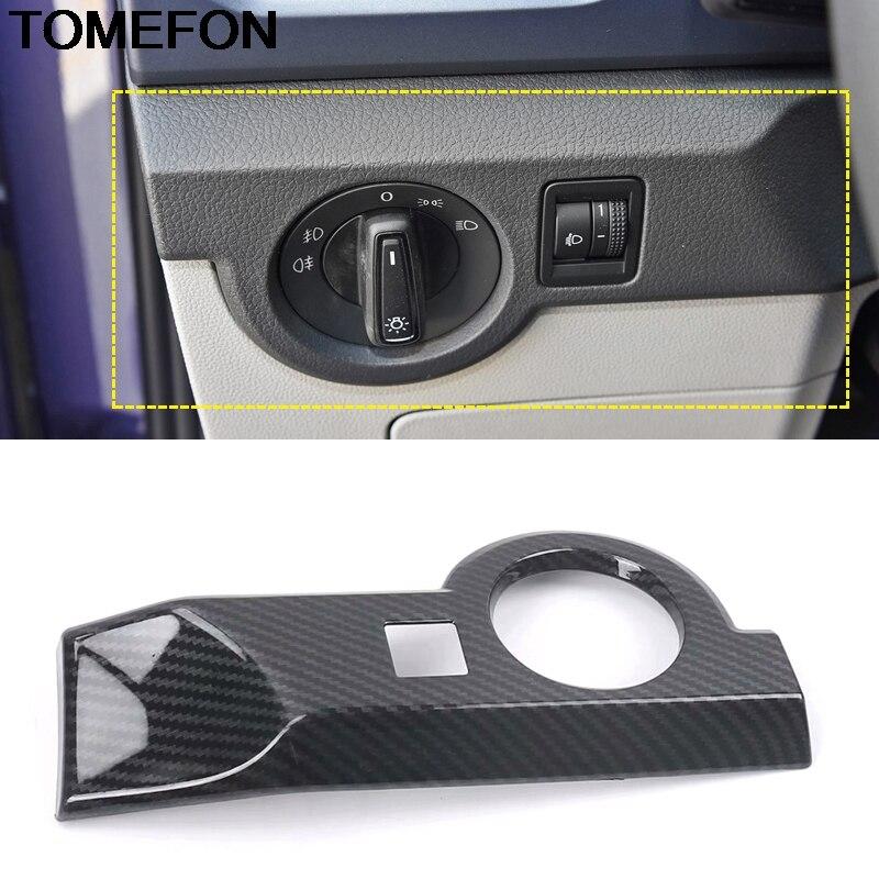 TOMEFON For Volkswagen T-Cross 2018 2019 2020 Headlight Switch Button Decorative Frame Dashboard Cover Trim Interior Accessories