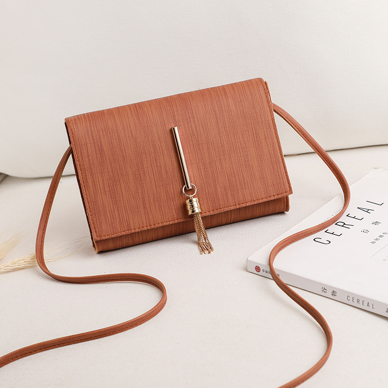 2020 New Women bags PU Fashion Ladies Shoulder Bag Solid Color Buckle Messenger Bag Tassel Charm Small Square Bag Wholesale