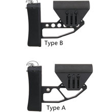 Outdoor Tactical Toy Gun Stock Support M4 Glr fit BD TB Style Metal Stock he black for Hunting Gun Accessories