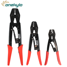 Crimping tools pliers for non-insulated terminals Japanese style Self-locking capacity 0.5-38mm2 rachet crimping pliers стоимость