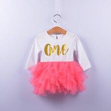 Новое модное платье-пачка для маленьких девочек комплект детской одежды для дня рождения, осеннее платье принцессы с длинными рукавами костюм с принтом