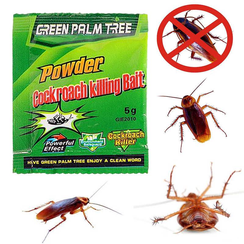 5 حزم مبيد الحشرات فخ الآفات التحكم الورقة الخضراء مسحوق صرصور قتل الطعم الحشرات طارد الروسية الصراصير القاتل جديد