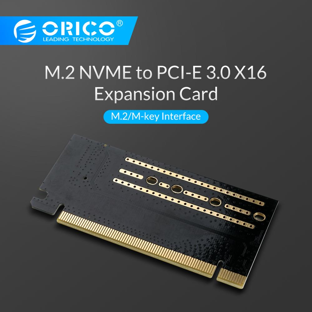 ORICO PCI-E Express M.2 M-key Interface SSD M.2 NVME To PCI-E 3.0 X16 Gen3 Convert Card Support 2230-2280 Size Super Speed Card