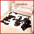 Шолиса воловья коровья шкурка ковры для гостиной спальни ковер полиэстер Морден коровья кожа ковер для дома декоративные