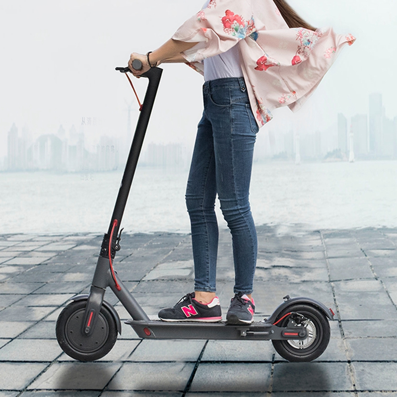 8.5 inch Adult Electric Scooter Smart App Bottom Light Bluetooth music speaker  Skateboard Shock absorption Electrico Scooter
