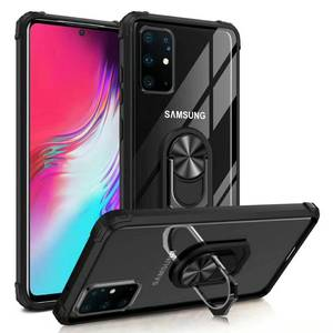 Magneet Ring Acryl Case Voor Samsung Galaxy S20 Ultra S10 Plus S9 S8 Note 10 Hard Cover Voor Samsung A50 a30 A10 J4 J6 Case Eemia
