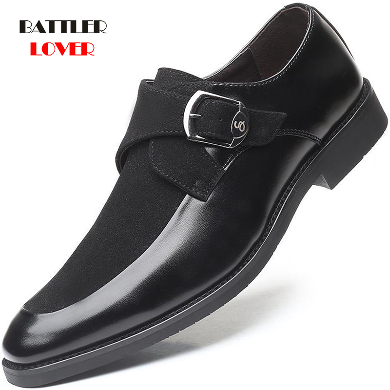 Brand Suede Leather Fashion Shoes Men Office Business Dress Loafers Pointed toe Shoes Men Oxford Breathable Formal Wedding Shoes