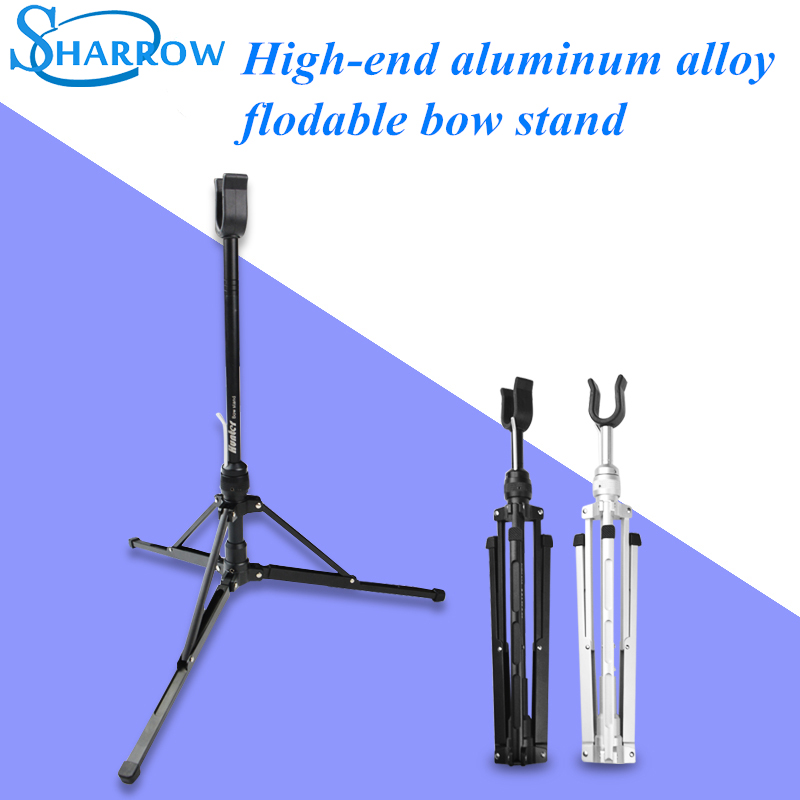 1Pc High end Flodable Recurve Bow Stand Semiautomatic Aluminum Collapsible Portable Flodable Bracket in Bow Arrow from Sports Entertainment
