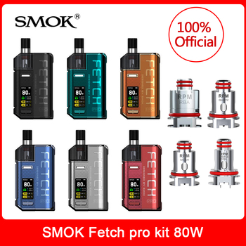цена на Original SMOK Fetch pro vape pod kit 80W RPM RBA mesh MTL 0.3/0.4 ohm tripple Coil DIY Head Evaporator For Electronic Cigarette