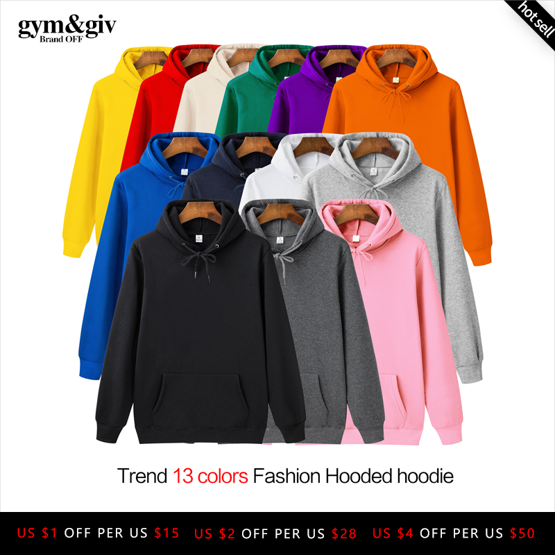 Fashion Brand Men's Hoodies 2019 Spring Autumn Male Casual Hoodies Sweatshirts Men's Solid Color Hoodies Sweatshirt Tops
