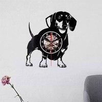 New Best 3D Art Mirror Wall Clock Home Living Dog Theme Clock Vinyl Record Wall Sticker Clock Decoration for Home