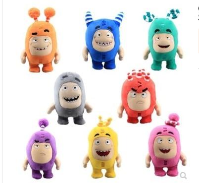 2020 New Cartoon 24\18cm  Oddbods Plush Toys Dolls  Soft Stuffed Toys For Children Baby Birthday Chrismast Gift