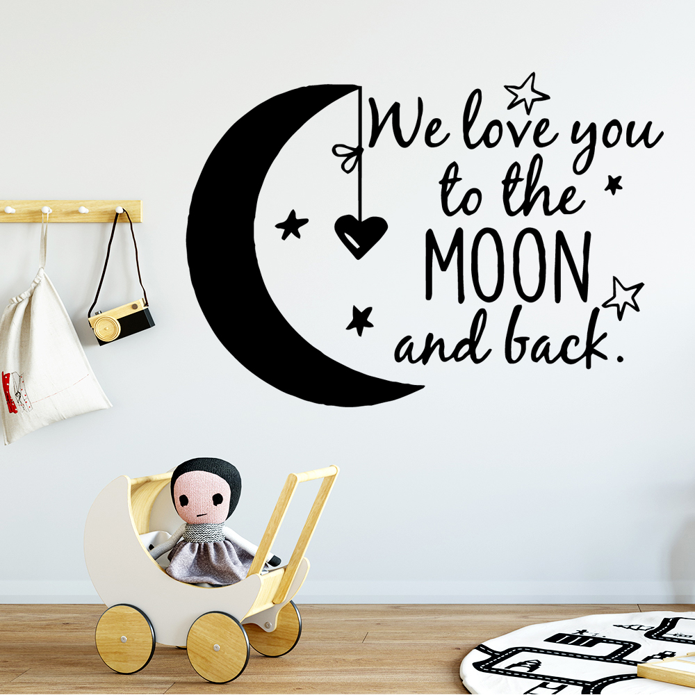 Lovely we love you Kids Phrase Art Decals Vinyl Wallpaper For Baby Room Frase Wall Sticker Decor Stickers Mural vinilos pared