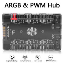 4Pin PWM ARGB Fan HUB 1 a 6 Multi Way Splitter PWM ARGB Fan HUB 4Pin PWM 3Pin Indirizzabile RGB adattatore per PC Desktop(China)