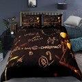 Набор постельного белья «Кошмар перед Рождеством»  домашний текстиль  черный пододеяльник  наволочка  обучающее покрывало  праздничный дек...