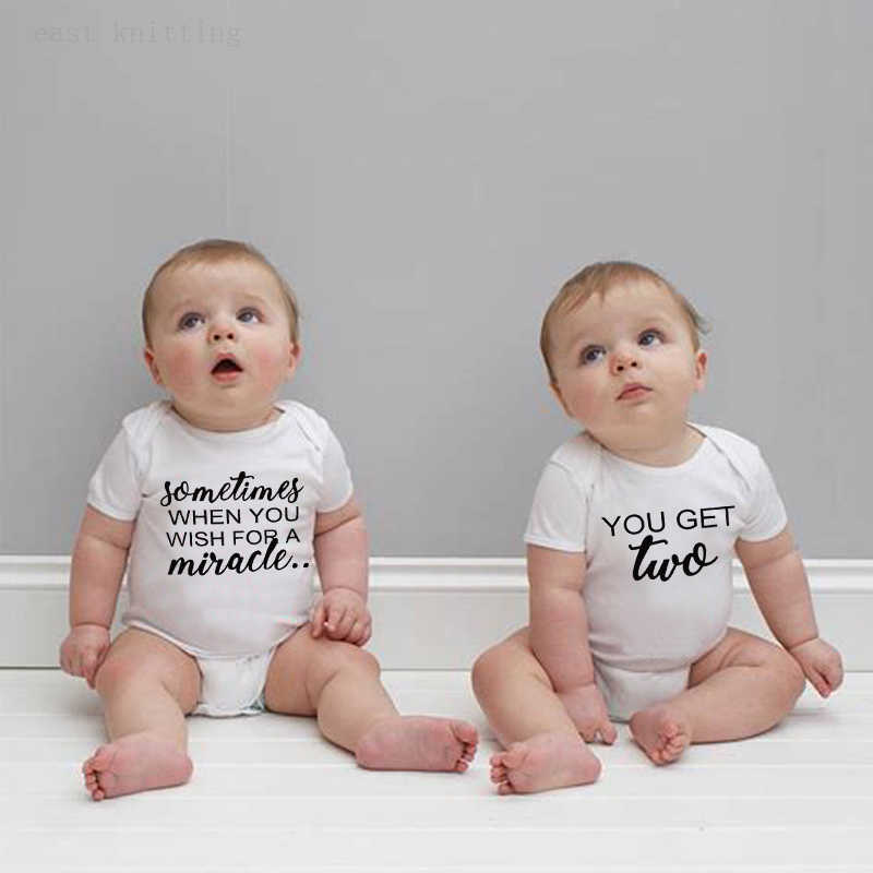 Newborn Twins Baby Boys Girls Soft Clothes Toddler Romper Bodysuit Playsuit Matching Outfits Aliexpress