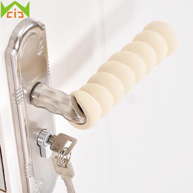 Foam Rubber Door Knob Cover Anti Collision Door Handle Gloves Guard Covers Spiral Grip Protector Baby Safety Doorknob Sleeve