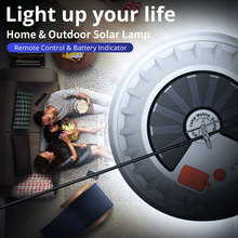 Rechargeable LED Bulb Lamp Remote Control Solar Charge Lantern Portable Emergency Night Market Light Outdoor Camping Home