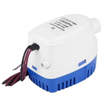 цены 1100GPH Automatic Boat Bilge Pump 12V Marine Automatic Submersible Bilge Water Pump Fully Auto Float Switch Internal