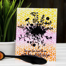 Bouquet Leaves Background Transparent Silicone Clear Stamp For Scrapbooking DIY Craft Decoration Soft Stamp 2020 New cmcyiling dark flecking gray soft felt craft polyester abrics for diy decoration scrapbooking toys dolls stuff skin 0 5m