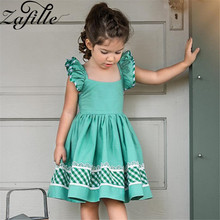 ZAFILLE 2020 New Girls Summer Dress Flare Sleeve Baby Girl Clothes Toddler Princess Birthday Party Dress Kids Clothes Baby Girls zafille new baby girl clothes summer dress for girls patchwork mesh girls dress short sleeve toddler kids clothes princess dress