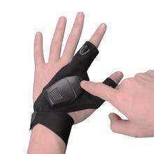 HiMISS палец светильник перчатки раскрыть 3 пальца дышащая уличная спортивная обувь для верховой езды перчатки ночной Светильник ing рыболовные принадлежности перчатки