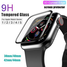 PET &PMMA Full Cover 3D Curved Tempered Glass Screen Protector Film for Apple Watch Series 6 SE 5 4 3 44mm 40mm 42 38 for iWatch