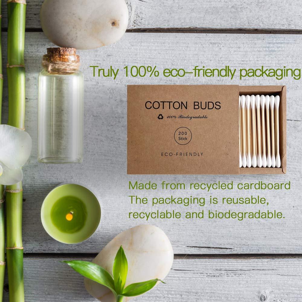 100/200 Pcs Double Head Bamboo Cotton Swabs Eco Friendly Eco friendly Bath & Shower Accessories » Planet Green Eco-Friendly Shop