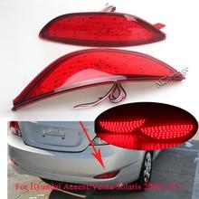 For Hyundai Accent/Verna/Solaris 2008-2015 Brio LED Bulbs Rear Brake Light Bumper Reflector Stop Lamp Tail