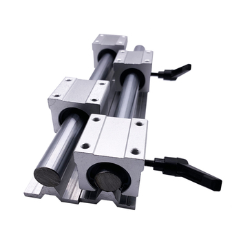 2Set SBR12 600 700 800 900 1000 1100 1200 1300 1400mm Fully Supported Linear Rail Slide Shaft Rod + 4Pcs SBR12UU Bearing Block