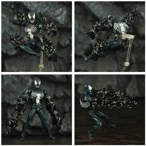 Image 4 - Comic venom & incrível aranha 6 , figura de ação, edward, eddie brock legends, peter parker, homem, vilão kos mafex boneca de brinquedo 088 075