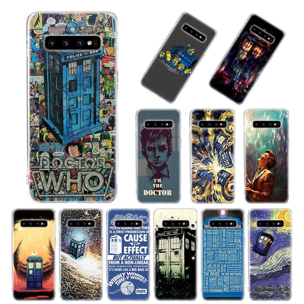 Custodia in Silicone per Samsung Galaxy S10 S10e S20 Ultra S8 S9 S10 S20 Più S7 Nota 8 9 10 Più copertura Tardis Box Doctor Who