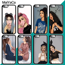 MaiYaCa BFF Cute Girl Best Friend Couple Phone Case For iphone XR XS MAX 11 Pro MAX X 6 6S 7 8 Plus 5 5S Back Cover Shell maiyaca mr and mrs couple bff popular unique design phone cover for iphone 8 7 6 6s plus 5 5s se xr x xs max coque shell