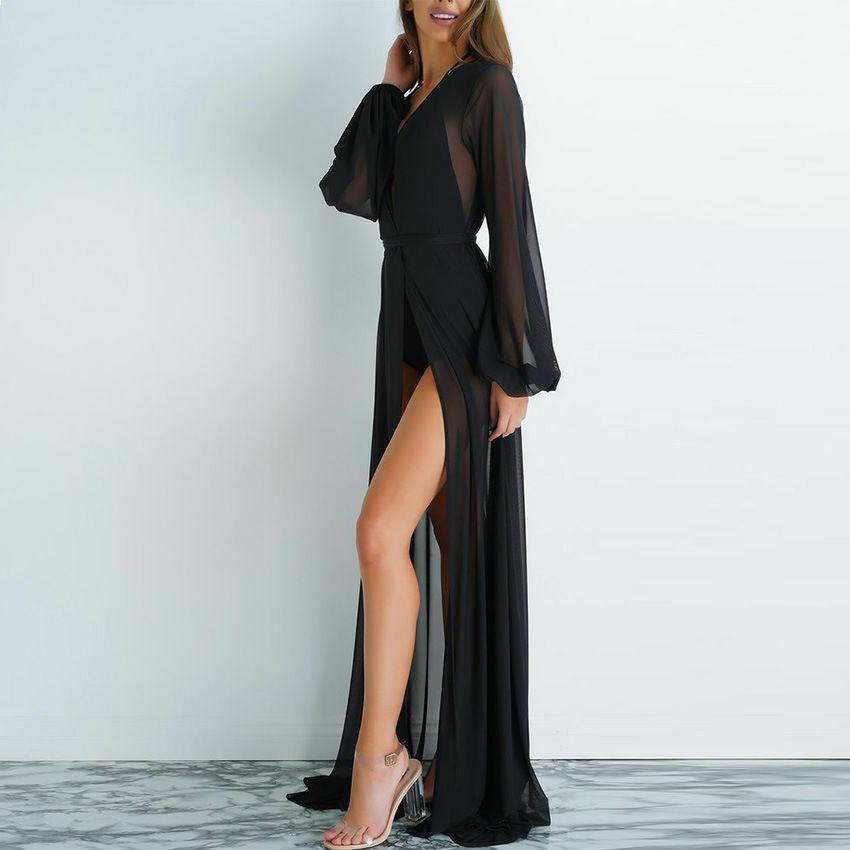 2020 Pareo Beach Cover Up Women Beach Dress Solid Bikini Cover Up Swimwear Women Robe De Plage Beach Wear Cardigan Bathing Suit