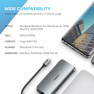 Image 5 - UGREEN USB HUB C HUB HDMI Adapter 10 in 1 USB C to USB 3.0 Dock for MacBook Pro Accessories USB C Type C 3.1 Splitter USB C HUB