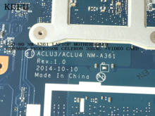 KEFU disponible ACLU3/ACLU4 NM-A361 para LENOVO G50-80 ordenador portátil procesador a bordo 3558U + tarjeta de vídeo (calificado ok)(China)
