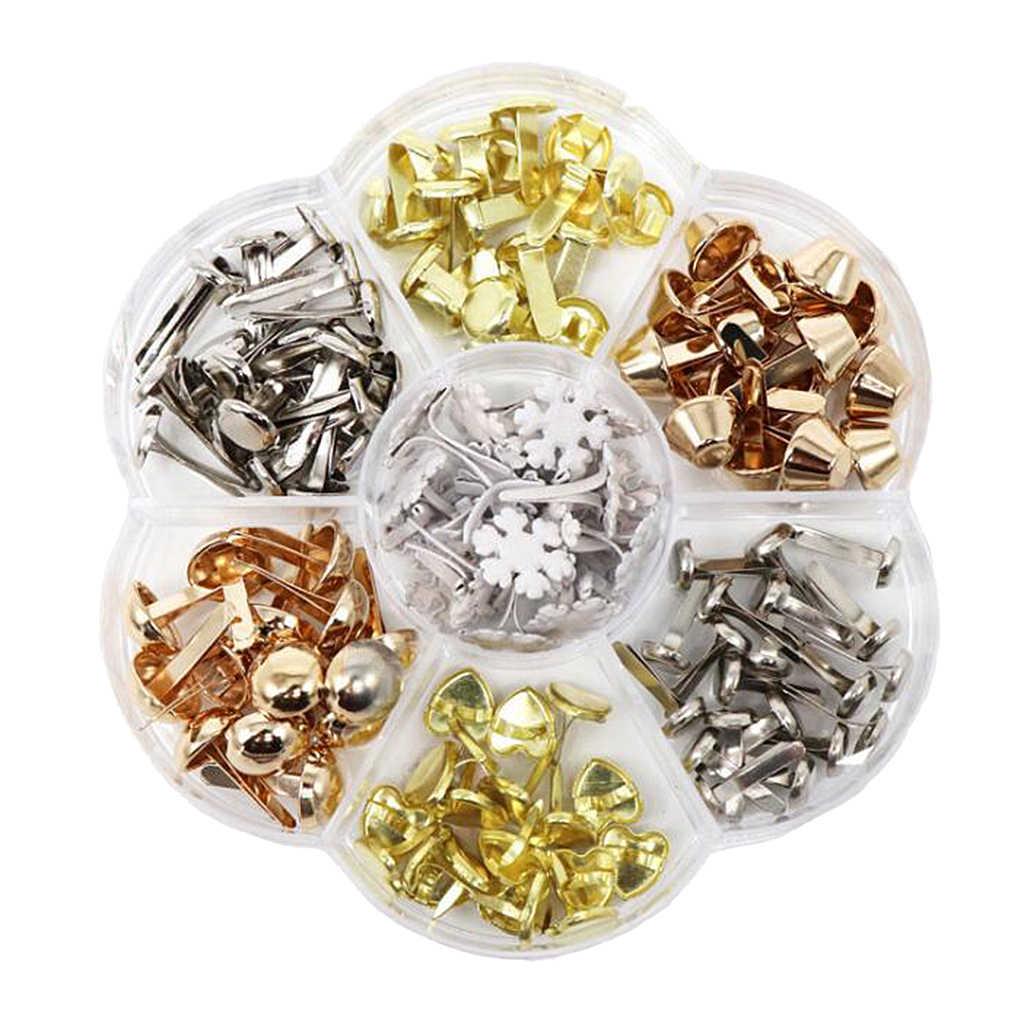 500Pcs Metal Mini Brads Fasteners Split Pins Round Paper Fasteners Metal Pastel Brads Craft Pins Pushpin for Scrapbooking Crafts DIY Projects Handmade Project Decorative Supplies