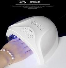 48 Вт Светодиодная УФ лампа для ногтей с 30 светодиодами маникюра