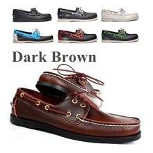 Мужские туфли для вождения из натуральной кожи новые модные