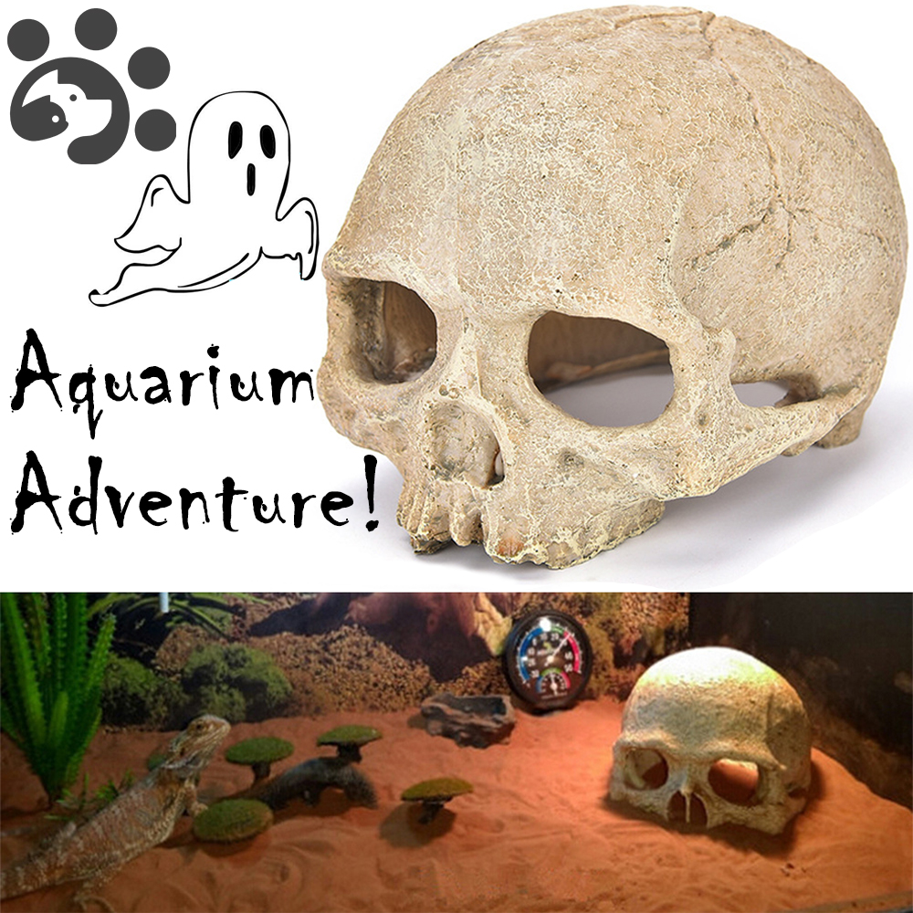 Aquarium Decoration Fish Tank Accessories Resin Skull Decor Home Aquarium Accessories for Fish Tank Decor Bone Shape Fish House