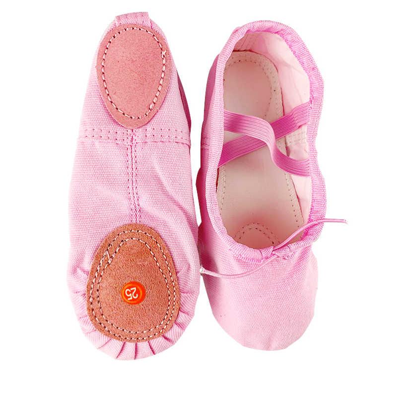 בד כפכפים פיצול Sole בנות Childern בפועל בלרינה נעלי לריקודים